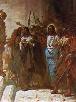 Christ being taken to Pilate