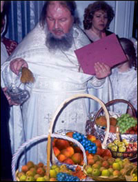 Blessing the fruit on Transfiguration Day