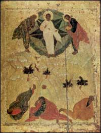 """The Transfiguration"". Andrei Rublev. 1405."