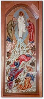 The church icon of Transfiguration.